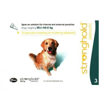 Stronghold Caine 240 mg 3 pipete - solutie antiparazitara pentru caini