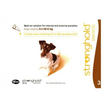 Stronghold Caine 60 mg 3 pipete - solutie antiparazitara pentru caini