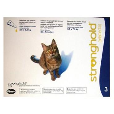 Stronghold Pisica ( 2,6 - 7,5 kg ) - antiparazitar pentru pisici