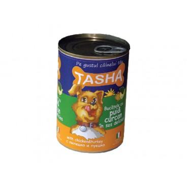 Tasha Dog Pui-Curcan Conserva 405 g