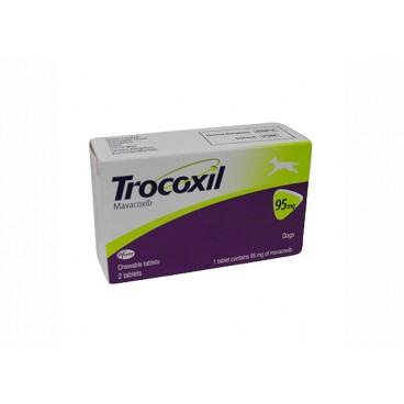 Trocoxil 95 mg 2 tablete masticabile - antiinflamator nesteroidian pentru caini