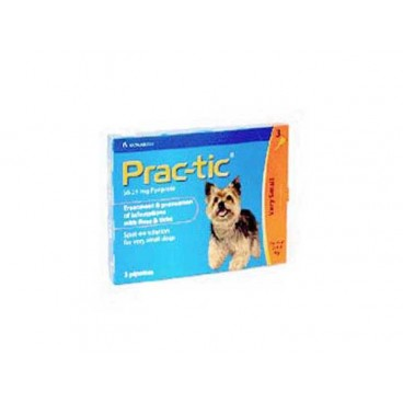 Prac-Tic XS Caini | Pipeta Antiparazitara PracTic - 3 pipete caini de talie mica