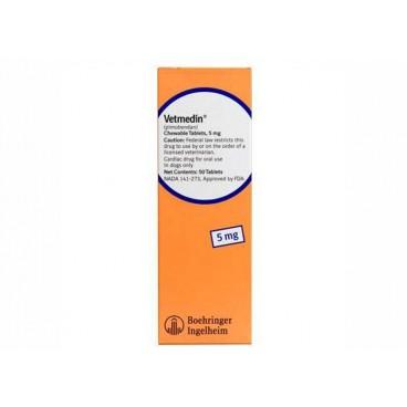 Vetmedin 5 mg 50 tablete masticabile - Farmacie - Afectiuni Cardio-Circulatorii Caini