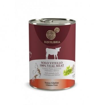 EQUILIBRIA Dog - 100% carne de VITEL- 410 g -conserva