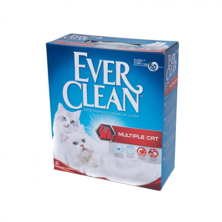 Nisip Igienic Ever Clean Multiple Cat, 10 l