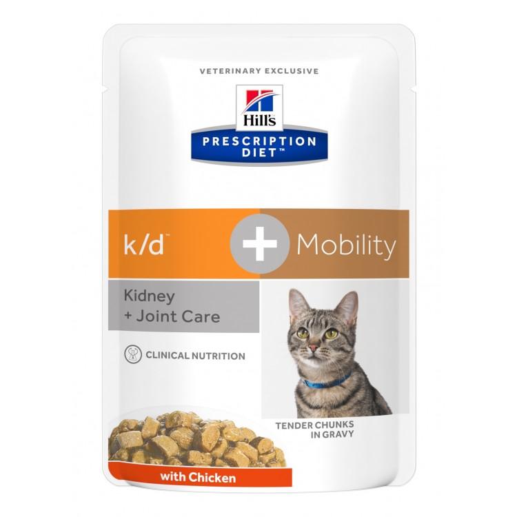Hill's PD k/d + Mobility Kidney Care + Joint Care hrana pentru pisici, 85 g (plic)