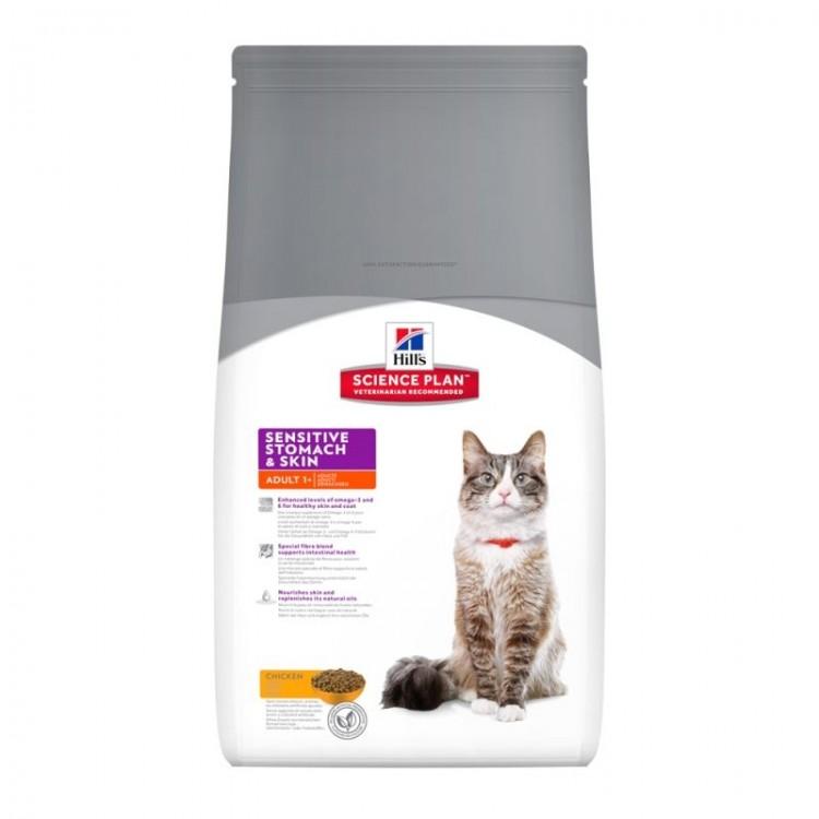 Hill's SP Adult Sensitive Stomach & Skin hrana pentru pisici 5 kg