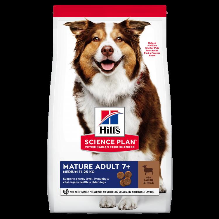 Hill's SP Mature Adult 7 Plus hrana pentru caini cu miel si orez