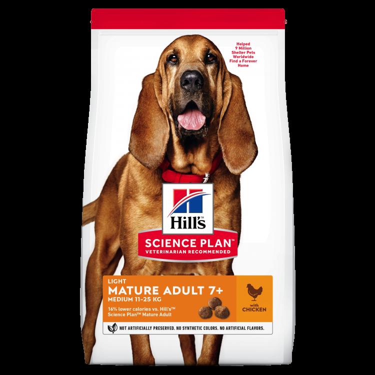 Hill's SP Mature Adult 7 Plus Light hrana pentru caini cu pui 12 kg
