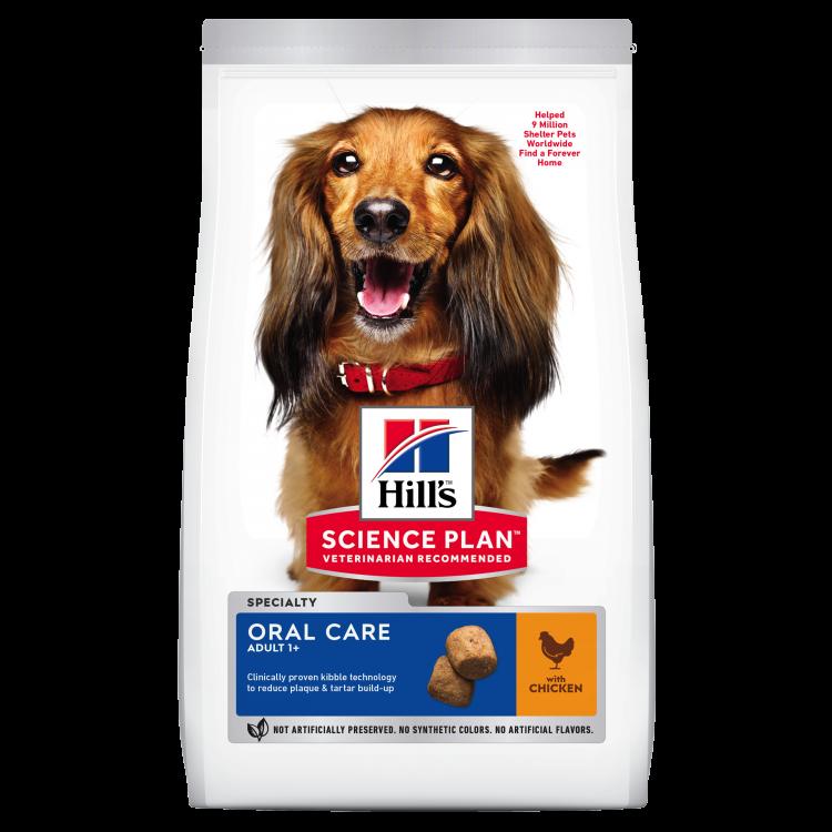 Hill's SP Adult Oral Care hrană pentru câini cu pui