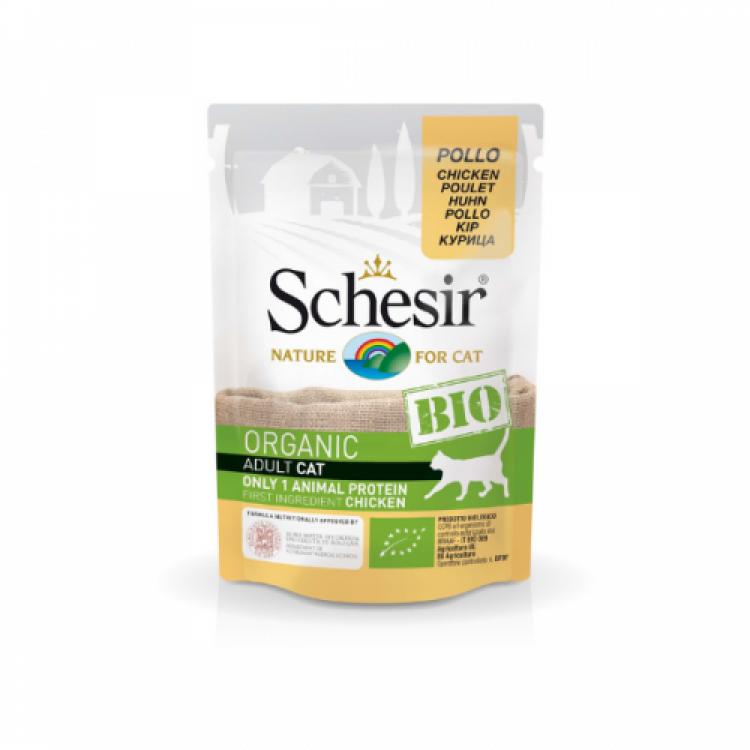 Schesir Bio For Cat, Pui, 85 g