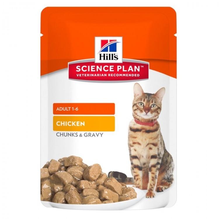 Hill's SP Adult hrana pentru pisici cu pui 85 g (plic)