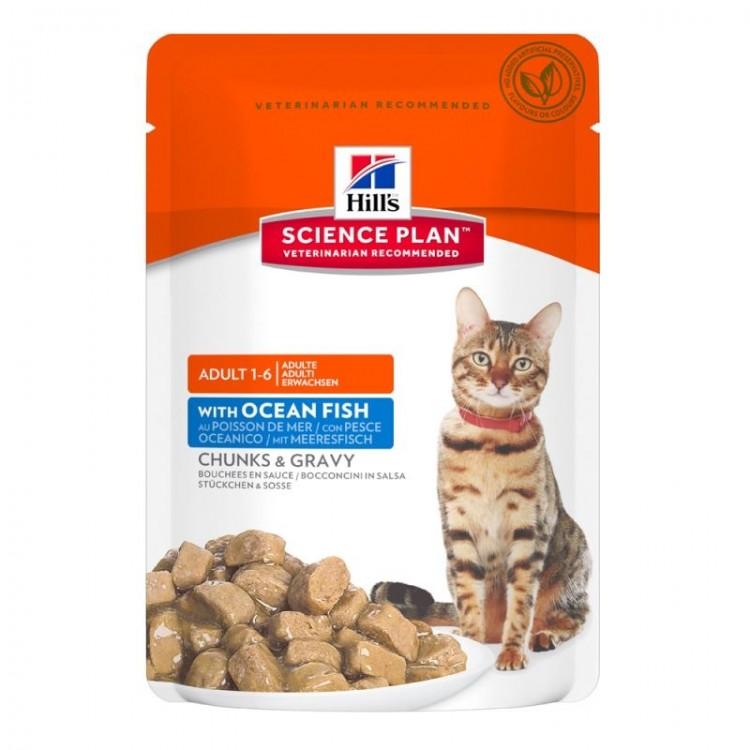 Hill's SP Adult hrana pentru pisici cu peste oceanic 85 g (plic)