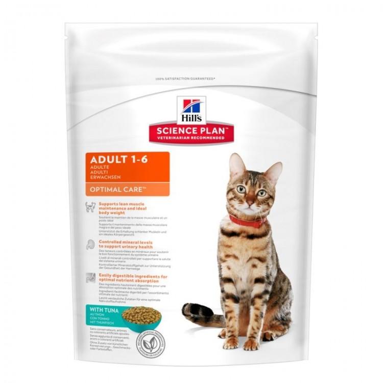 Hill's SP Adult Optimal Care hrana pentru pisici cu ton 400 g