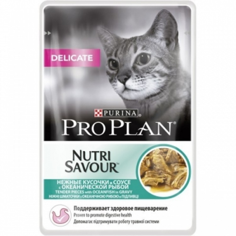 Pro Plan Delicate Nutrisavour Sos cu peste oceanic 85 g