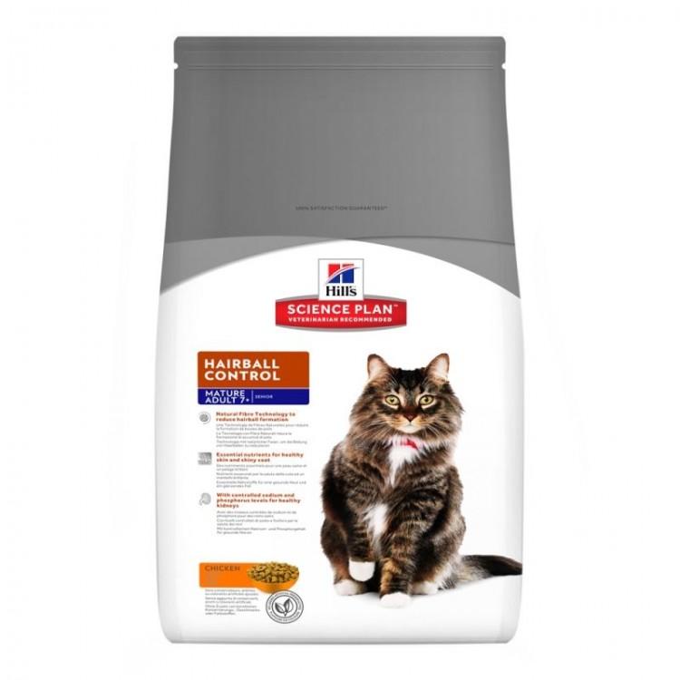 Hill's SP Mature Adult 7 Plus Hairball Control hrana pentru pisici 1.5 kg