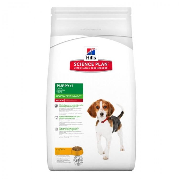 Hill's SP Puppy Healthy Development Medium hrana pentru caini cu pui 12 kg