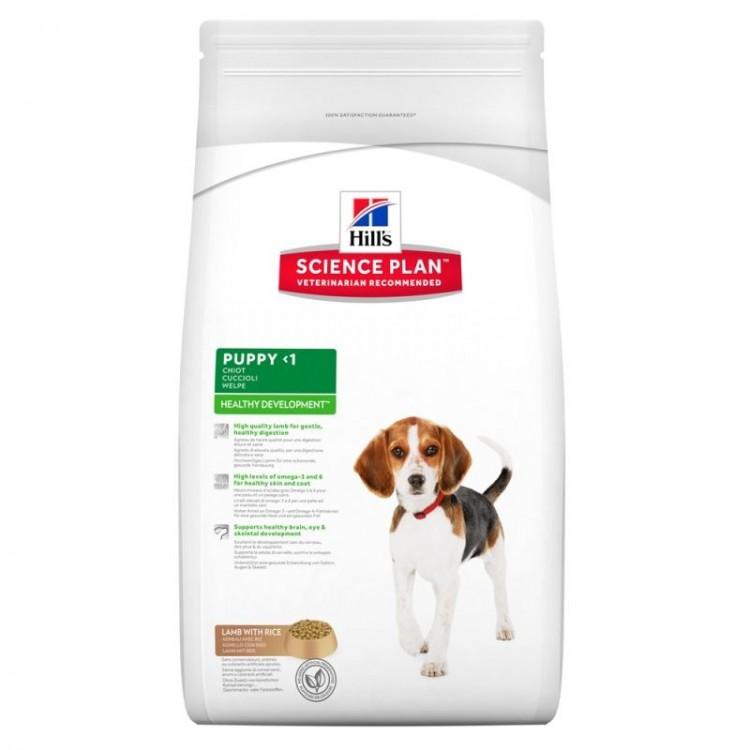 Hill's SP Puppy Healthy Development hrana pentru caini cu miel si orez 1 kg