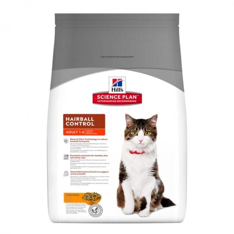 Hill's SP Adult Hairball Control hrana pentru pisici cu pui 5 kg