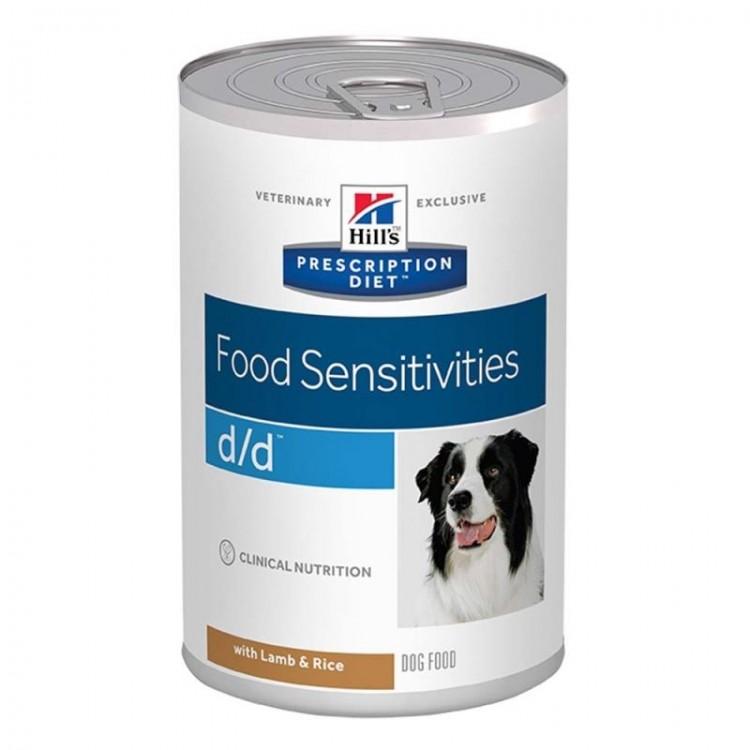Hill's PD d/d Food Sensitivities hrana pentru caini cu miel si orez 370 g