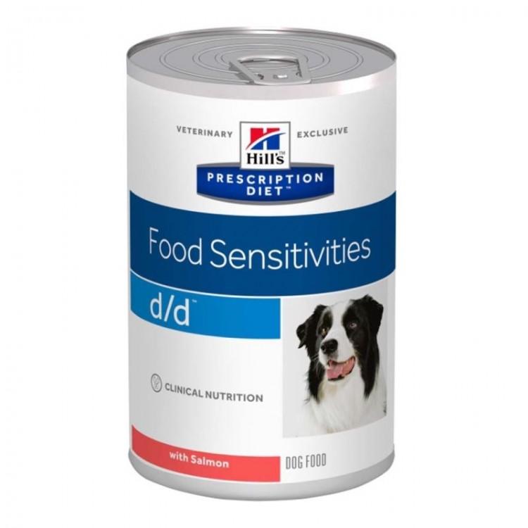 Hill's PD d/d Food Sensitivities hrana pentru caini cu somon 370 g