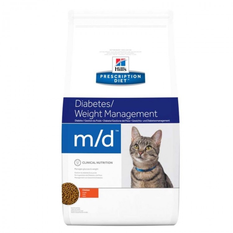 Hill's PD m/d Diabetes, Weight Management hrana pentru pisici 1.5 kg