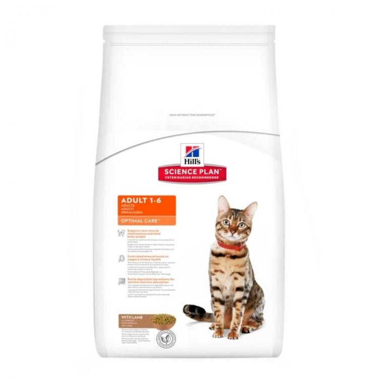 Hill's SP Adult Optimal Care hrana pentru pisici cu miel 2 kg