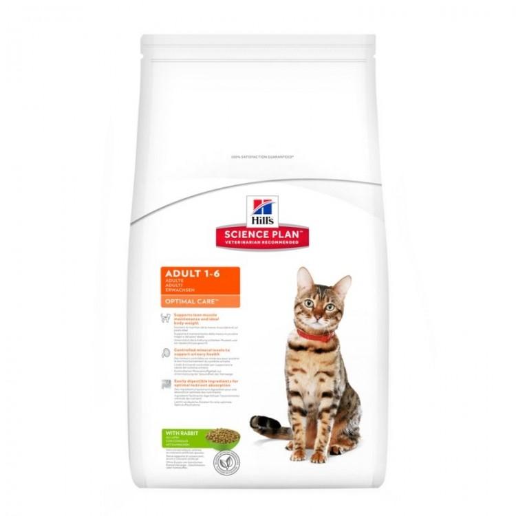 Hill's SP Adult Optimal Care hrana pentru pisici cu iepure 2 kg