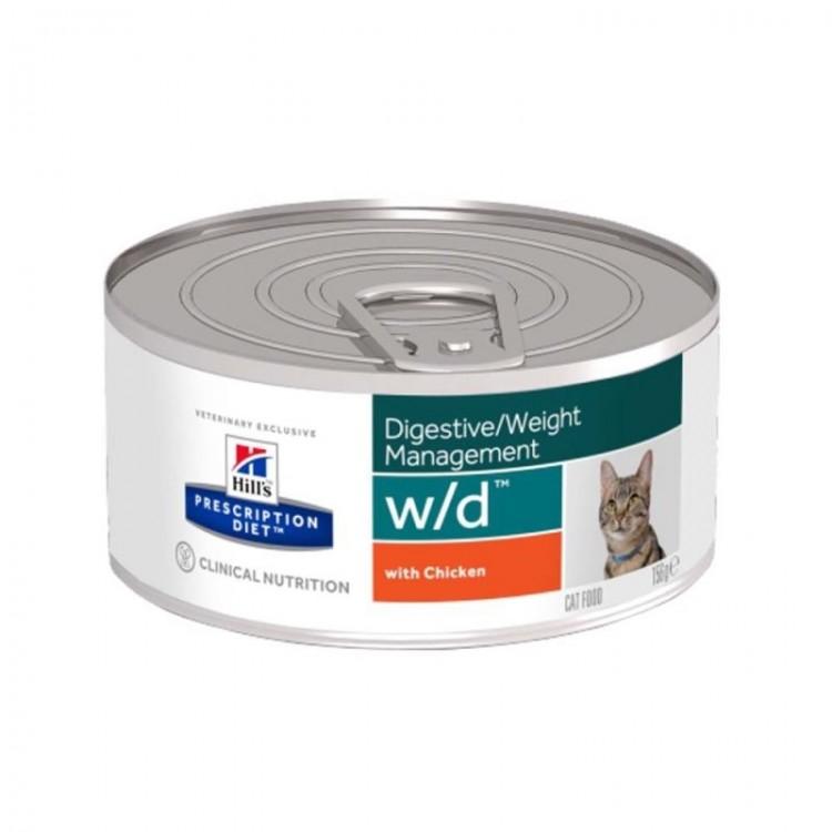 Hill's PD w/d Digestive, Weight Management hrana pentru pisici 156 g