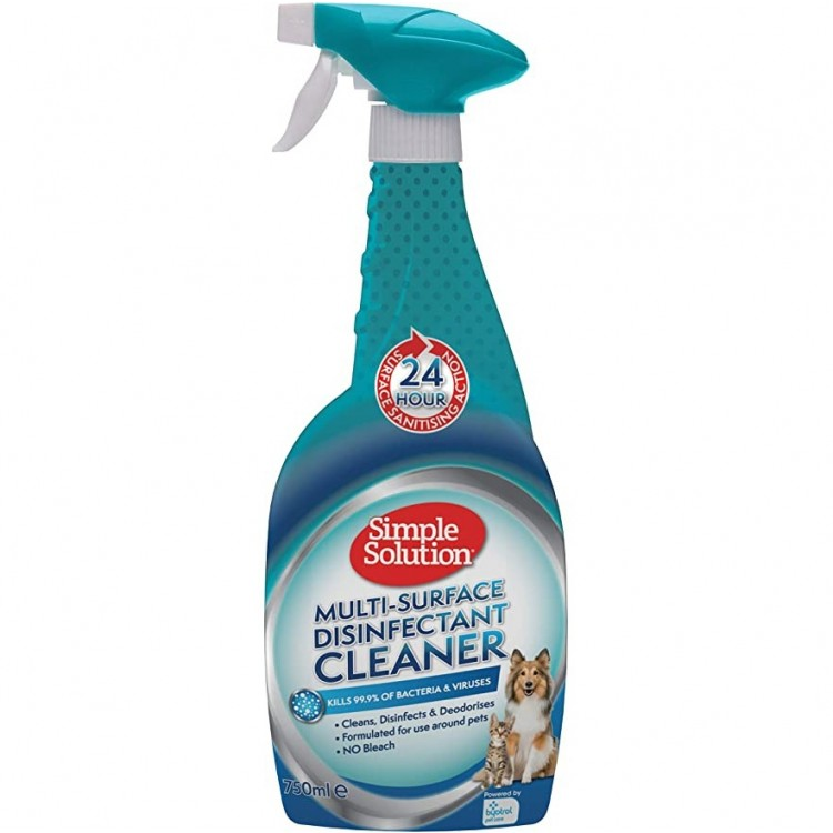 Simple Solution Multi-Surface Disinfectant Cleaner, 750 ml
