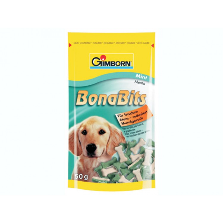 GIMBORN DOG BONABITS MINT 50G