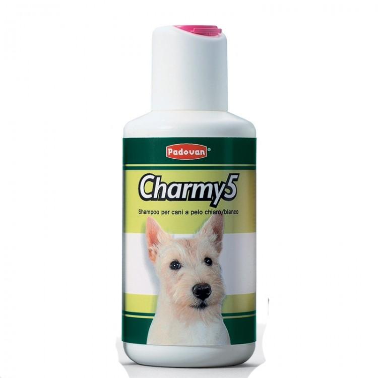 Sampon Charmy 5 caini par alb 250 ml