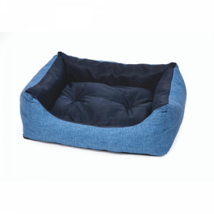 Culcus pentru caini Leopet Rodi 2 fete, 45 x 60 cm, Blue/ Light Blue