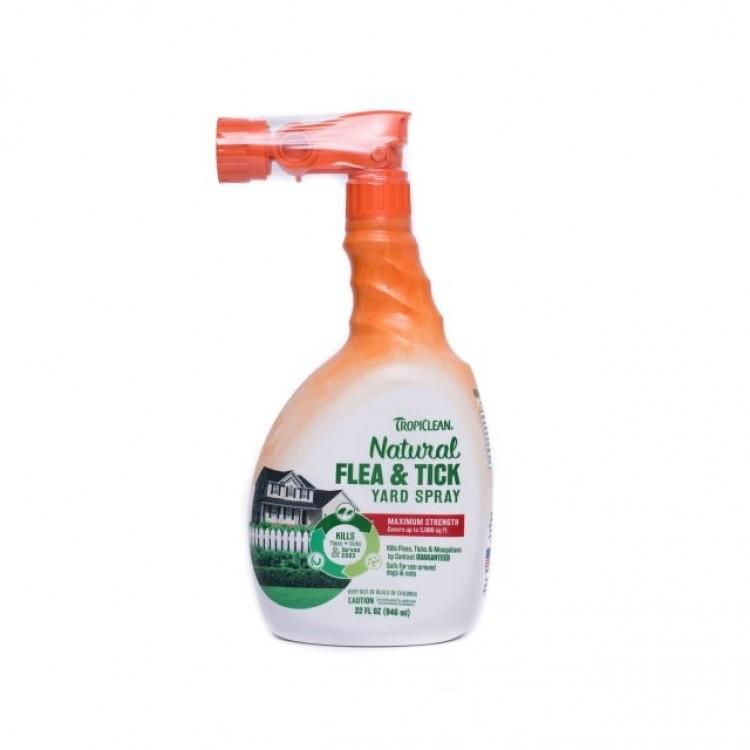 Spray natural antiparazitar, Tropiclean Flea & Tick Yard Spray, 946ml