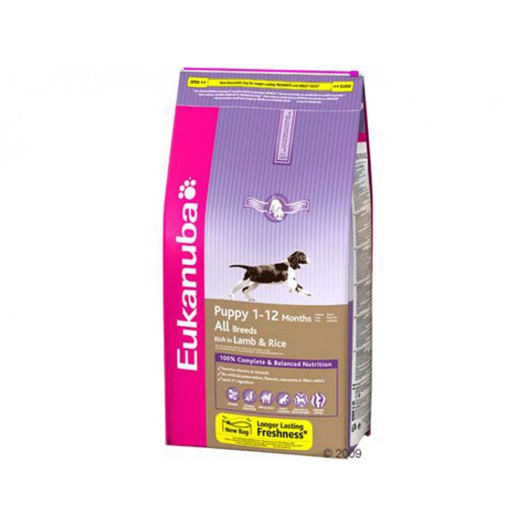 Eukanuba Puppy All Breeds Lamb & Rice 15 Kg