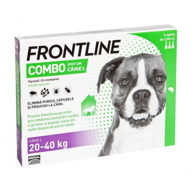 Frontline Combo L (20-40 kg) - 1 Pipeta Antiparazitara