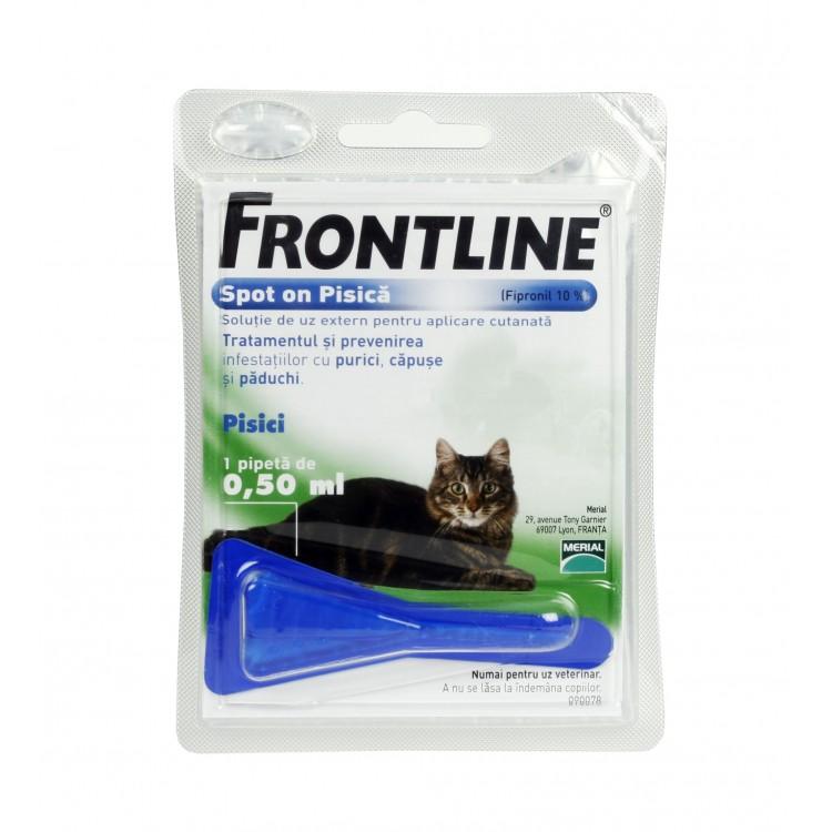 Frontline Spot On Pisica - 1 Pipeta Antiparazitara