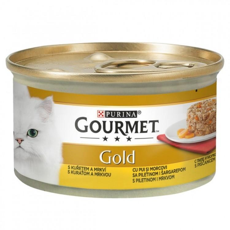 Gourmet Gold Savoury Cake, Pui si Morcovi, 85 g