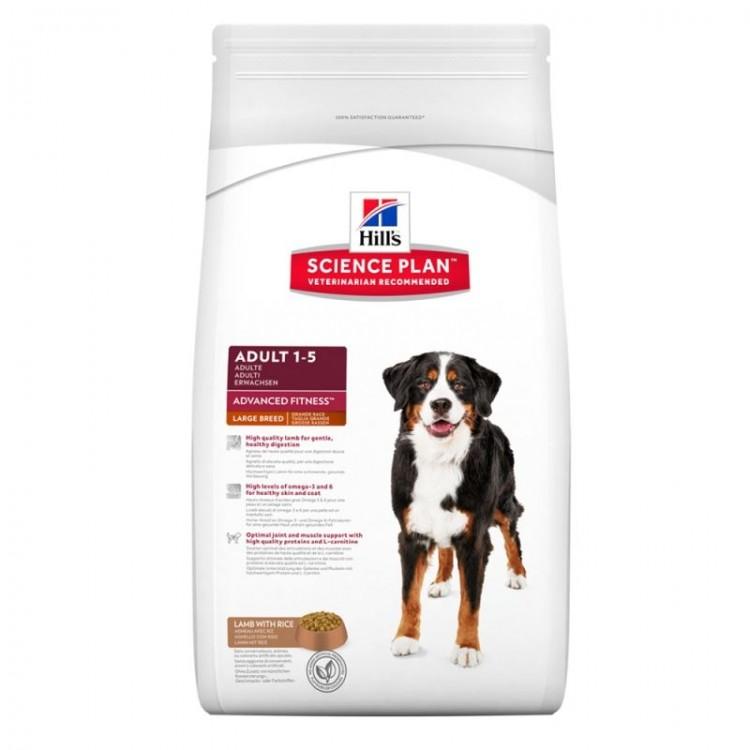 Hill's SP Adult Advanced Fitness Large Breed hrana pentru caini cu miel si orez 12 kg