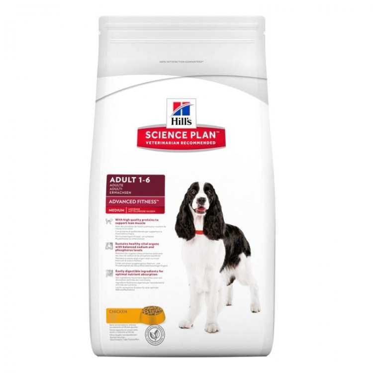 Hill's SP Adult Advanced Fitness Medium hrana pentru caini cu pui 2.5 kg