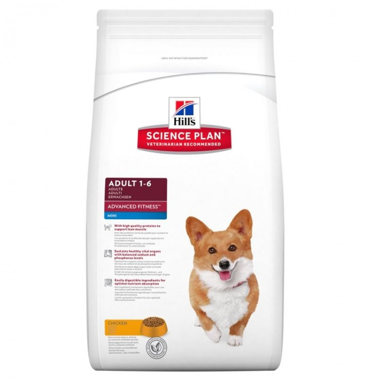 Hill's SP Adult Advanced Fitness Mini hrana pentru caini cu pui 2.5 kg