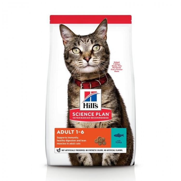 Hill's SP Adult Optimal Care hrana pentru pisici cu ton 10 kg