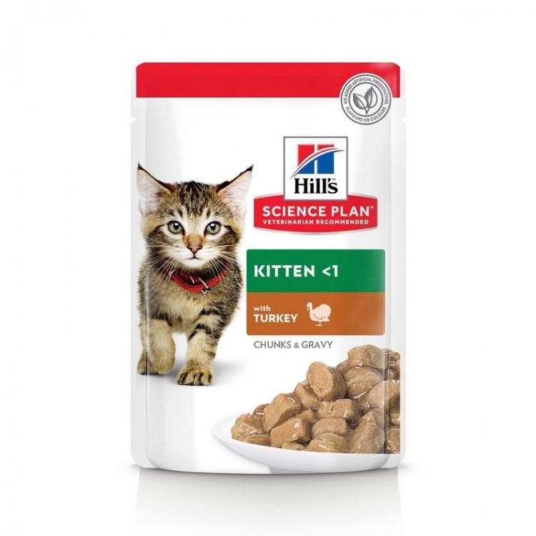Hill's SP Kitten hrana pentru pisici cu curcan 85 g (plic)