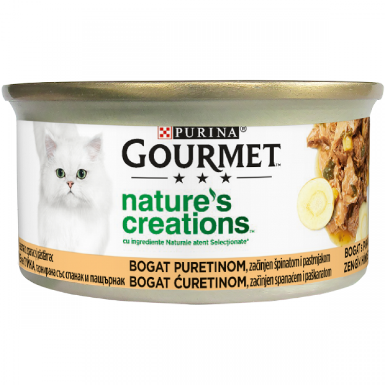Gourmet Nature's Creations, File Curcan si Spanac, 85 g