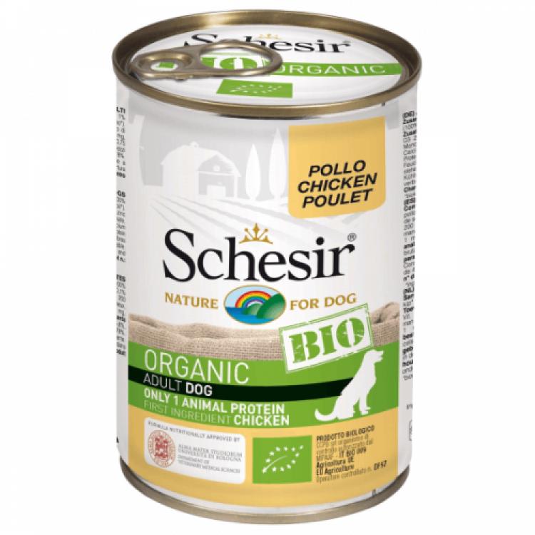 Hrana umeda pentru caini, Schesir Bio Pui, 400 g