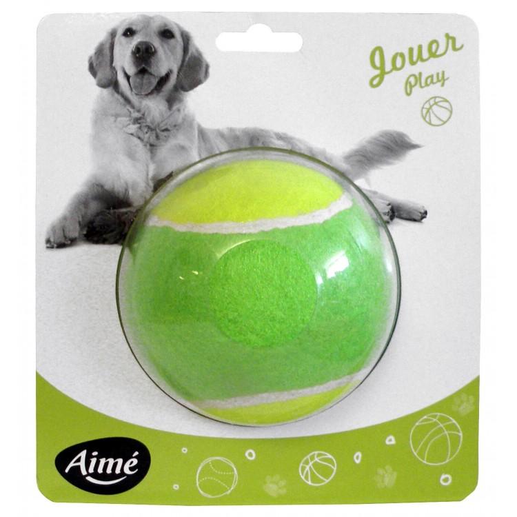 Jucarie caine minge tenis maxi, 10 cm