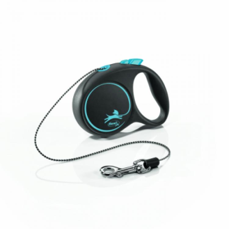 Lesa caini cu snur, Flexi Design XS, albastra, 3 m