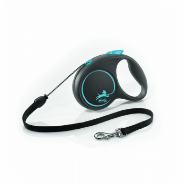 Lesa caini cu snur, Flexi Design , albastra, 5 m