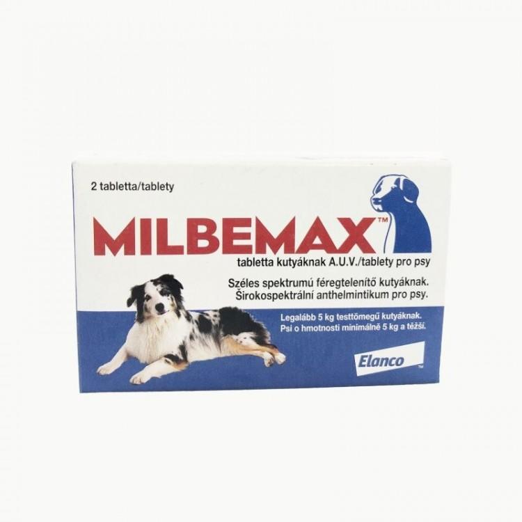 Milbemax Dog 12.5 / 125 mg (5 - 25 kg), 2 tablete