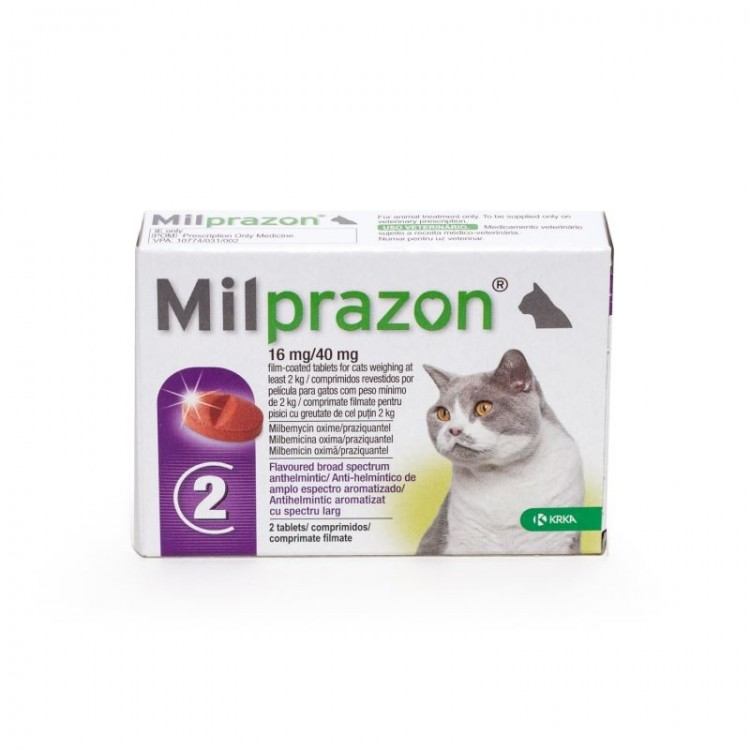 Milprazon Pisica (2 - 8 kg), 2 tablete